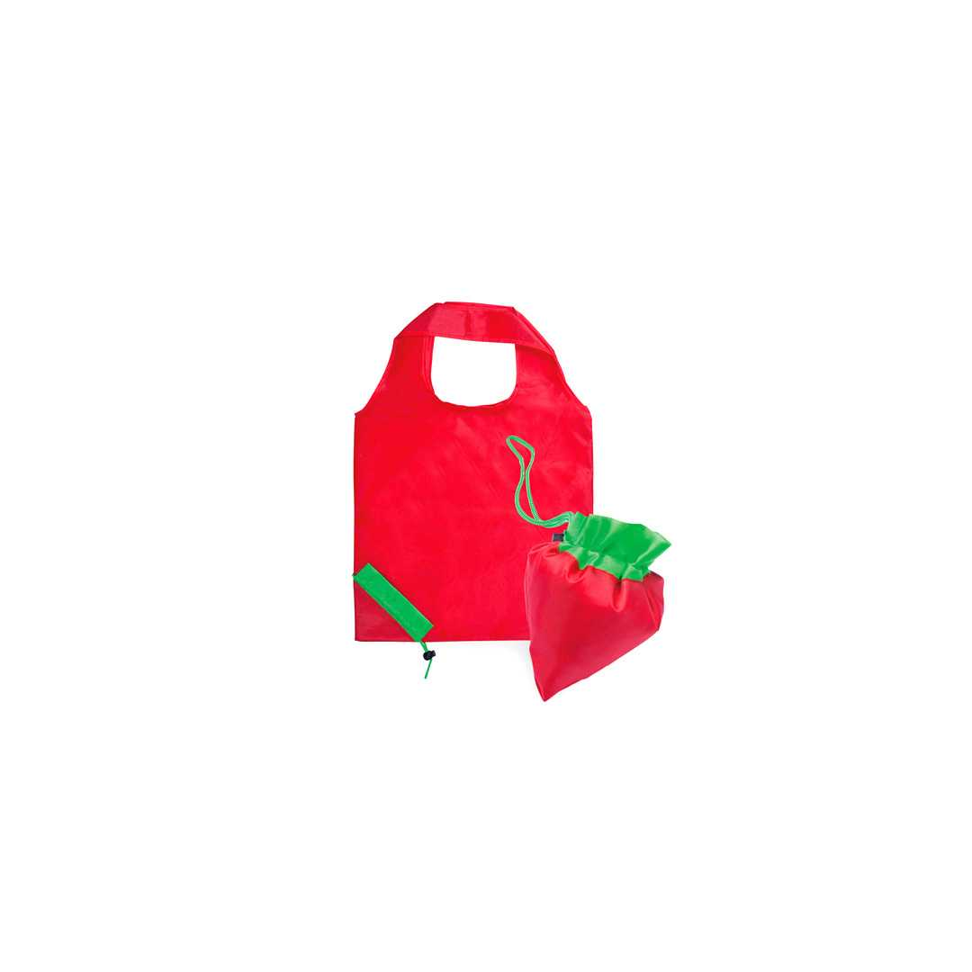 Bolsa personalizada plegable forma fresa