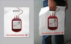 Bolsa donante sangre