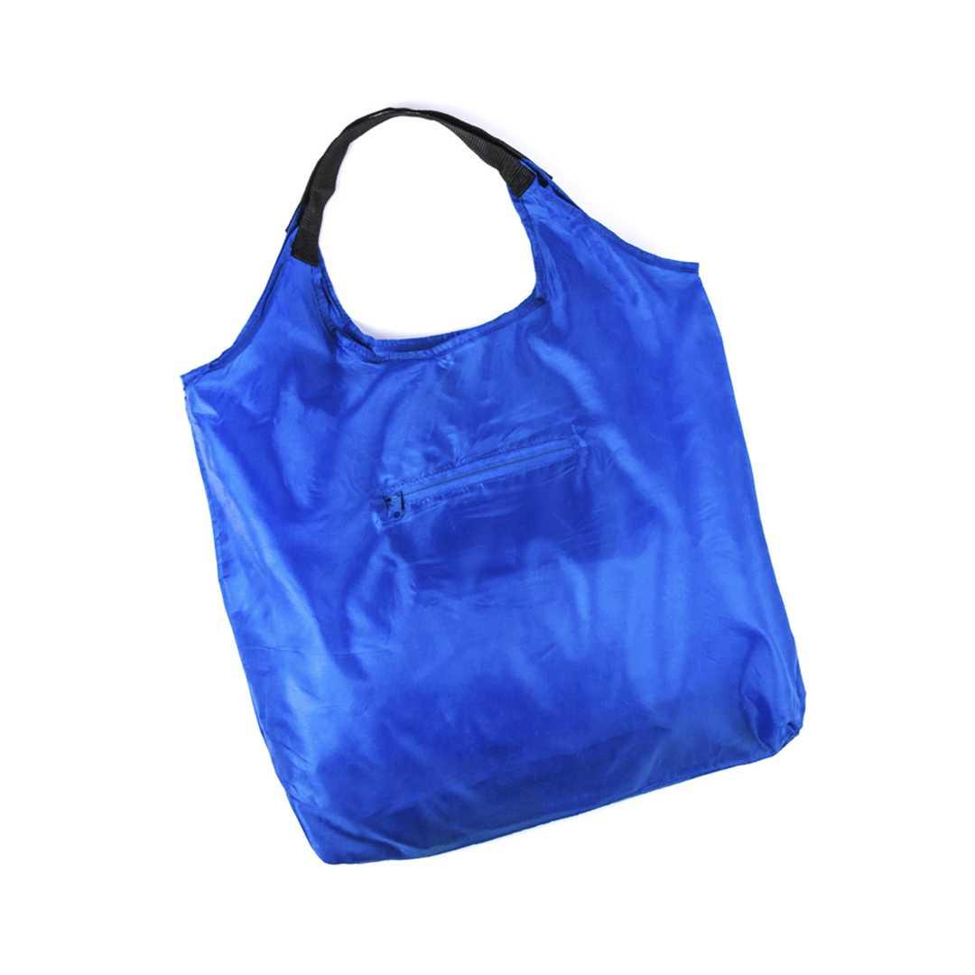 Bolsa personalizada autoplegable azul